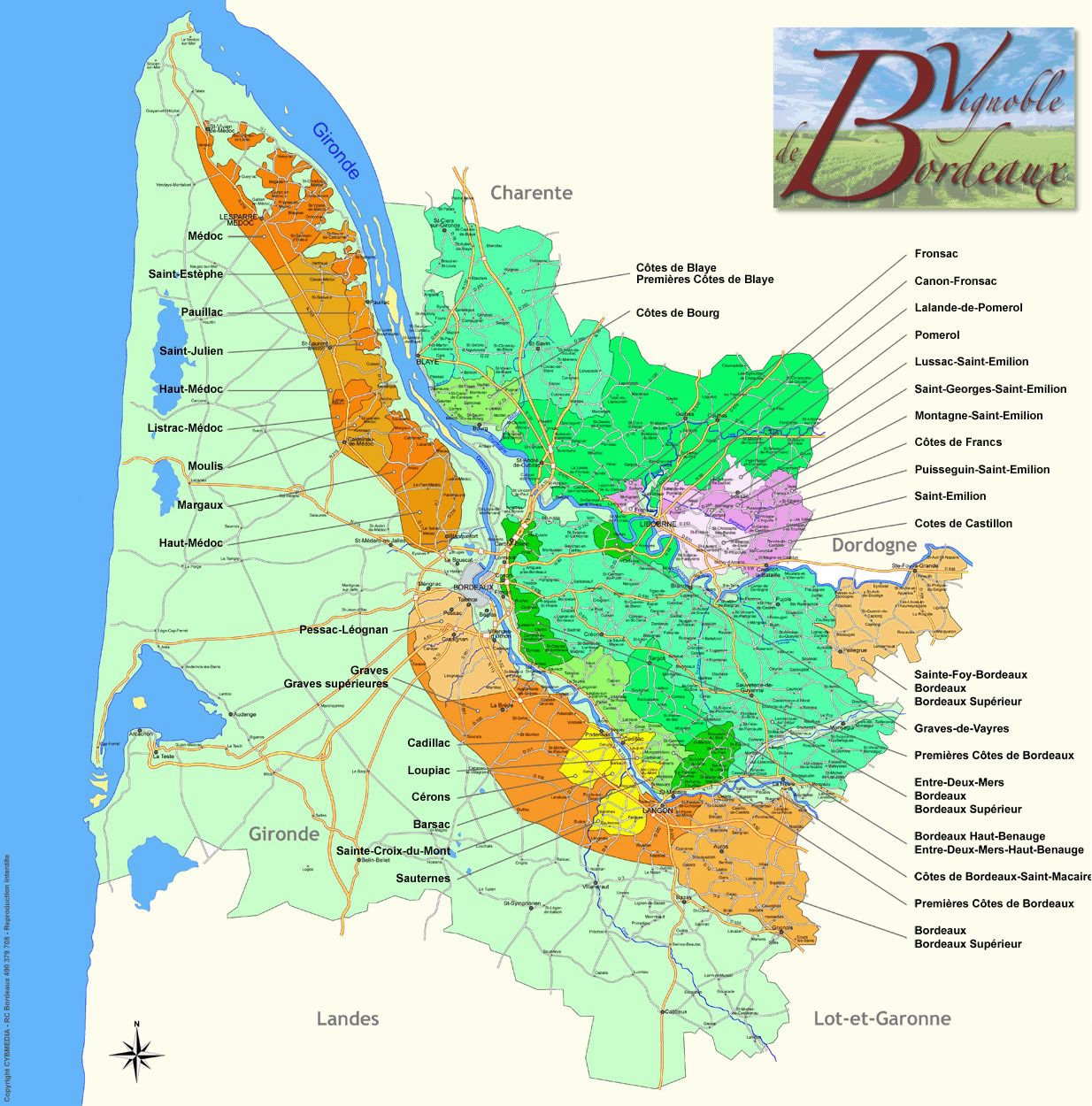 Carte vins Bordeaux - Vins Bordeaux à Ouistreham (Caen la mer)