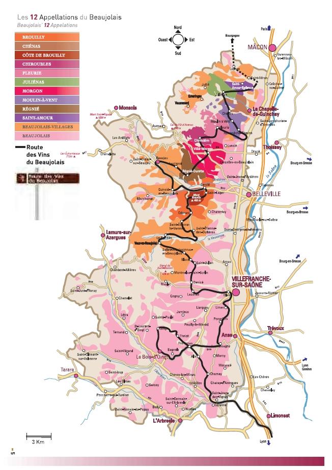 Carte vin Beaujolais - Vins Beaujolais à Ouistreham (Caen la Mer) dans le Calvados