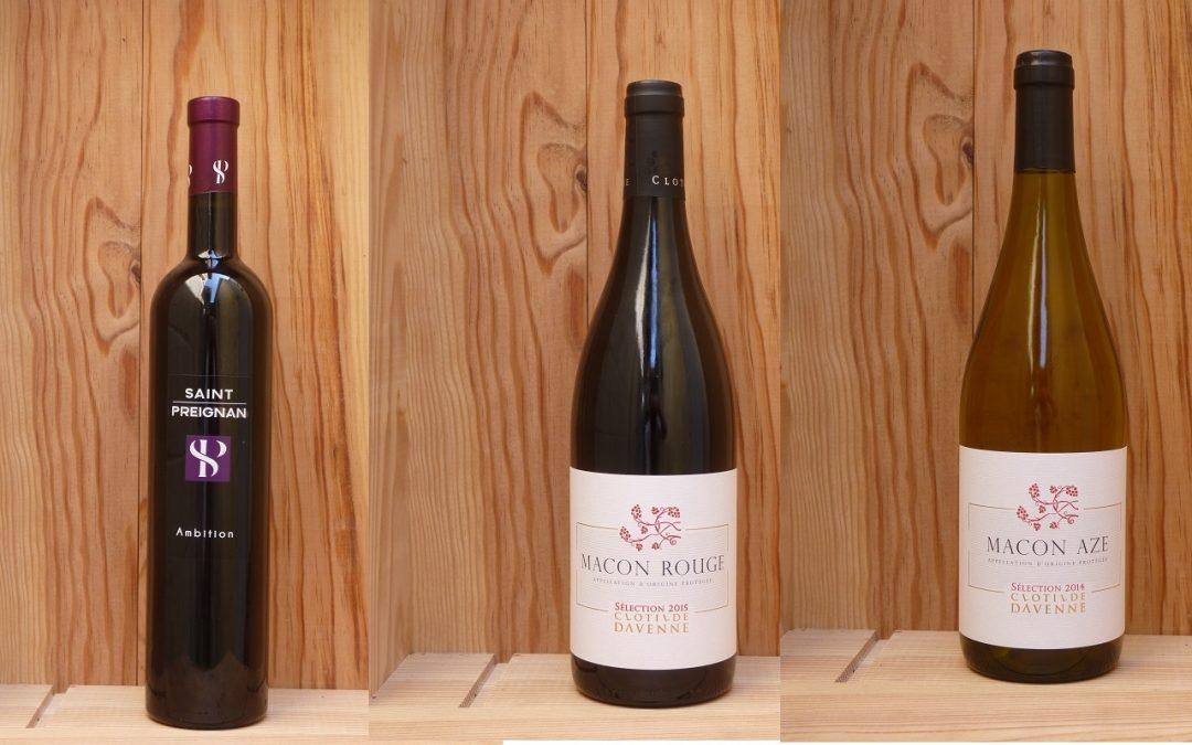 3 nouveautés de vins : Saint-Preignan et Clotilde Davenne
