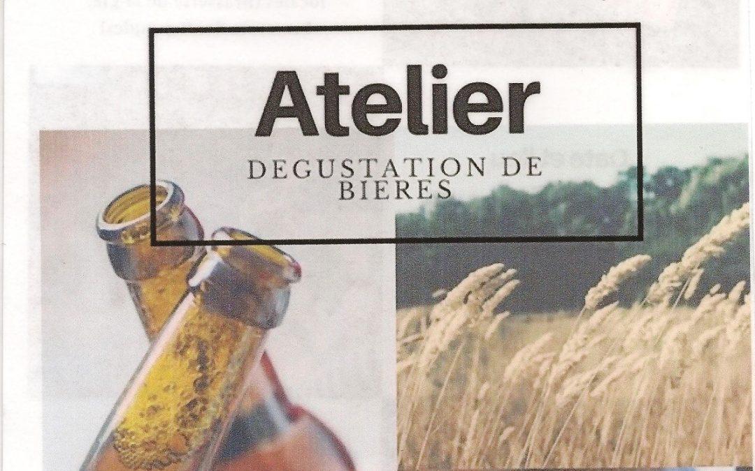 Atelier dégustation de bières : samedi 7 octobre à 17 h (Lion-sur-Mer)