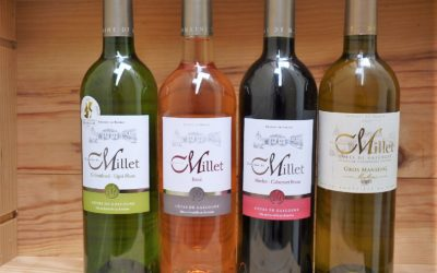 Domaine de Millet Côtes de Gascogne blancs, rouge et rosé